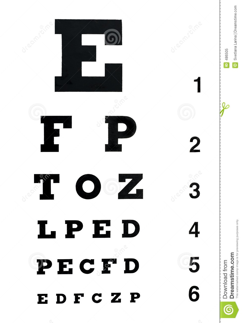 Eye chart clipart free.