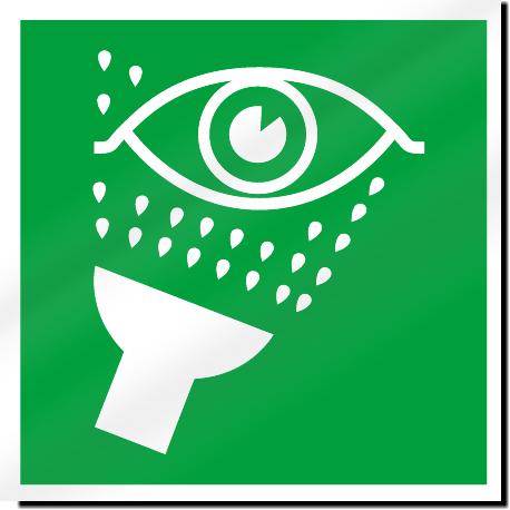 Emergency Eyewash Symbol Safety Signs.