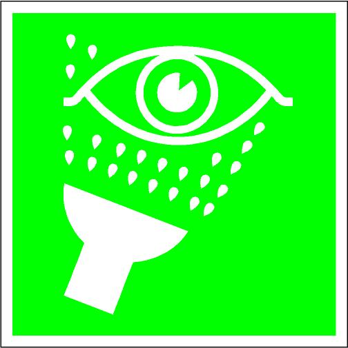 Clipart eye wash station.