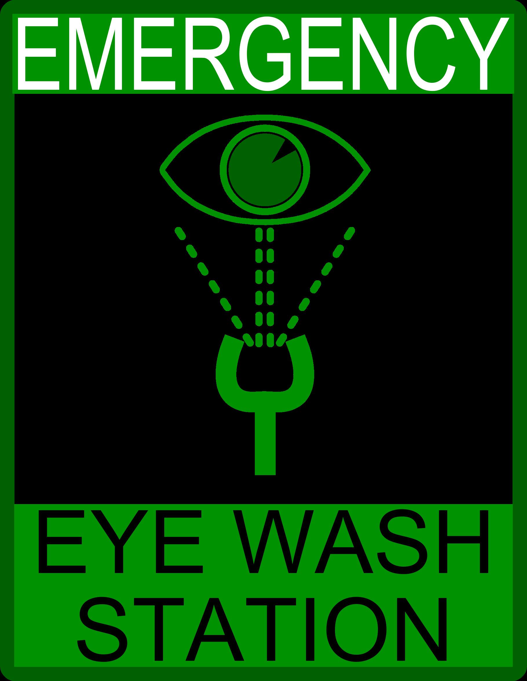 Washing eyes clipart.