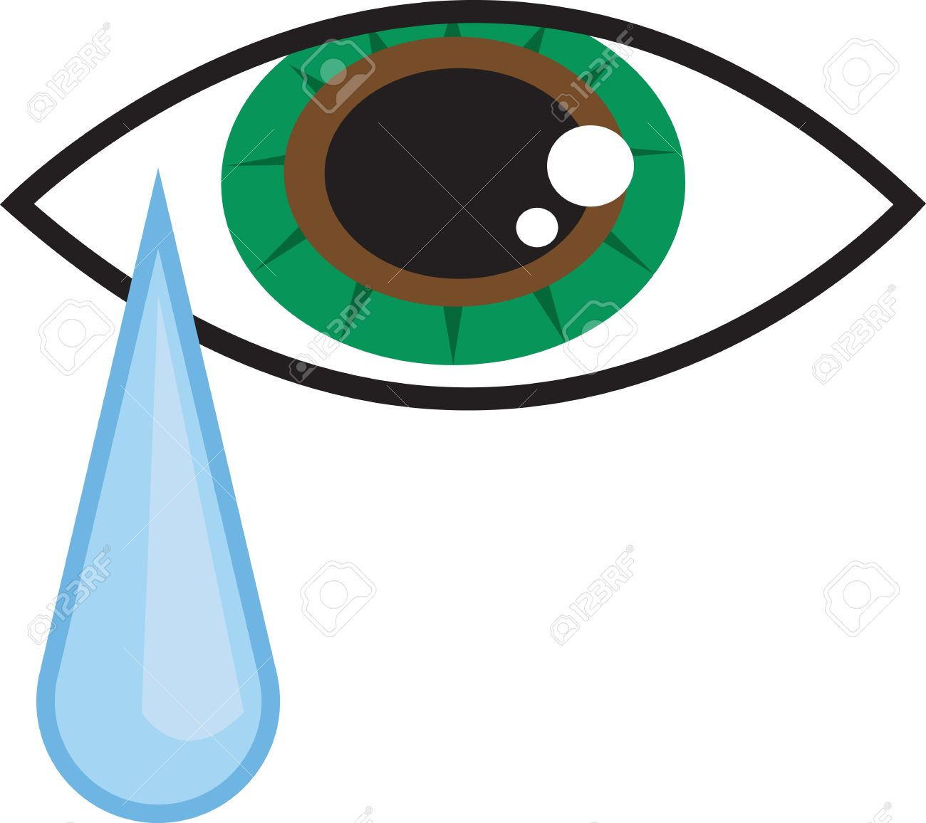 Free Clipart Eye With Tears.