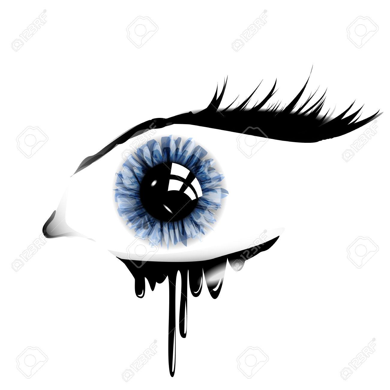 eye with tears clipart #12