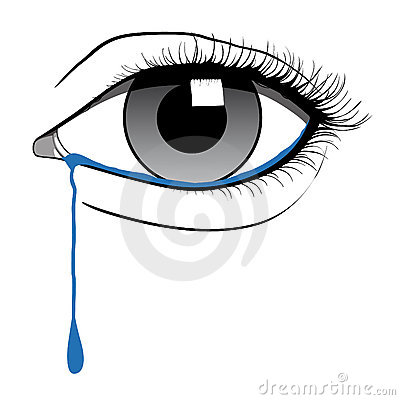 eye with tears clipart #10