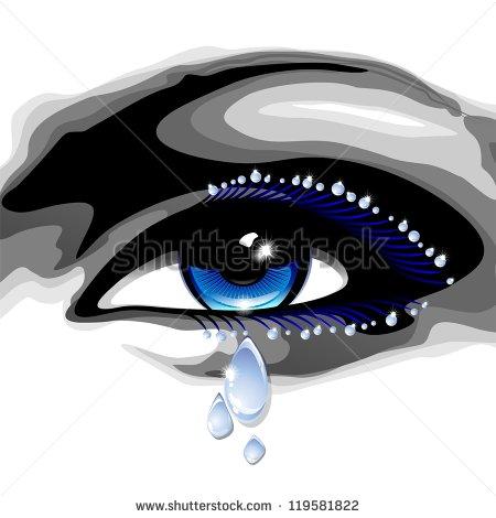 eye with tears clipart #17