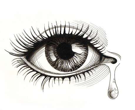 eye with tears clipart #11
