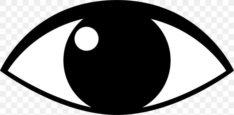 Eye Cartoon Clip Art, PNG, 2104x1038px, Eye, Black, Black.