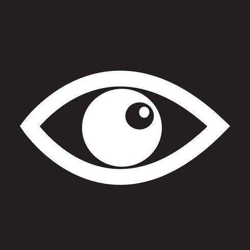 Eye icon symbol sign.