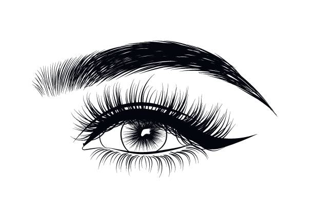 Best Eyebrow Threading Illustrations, Royalty.