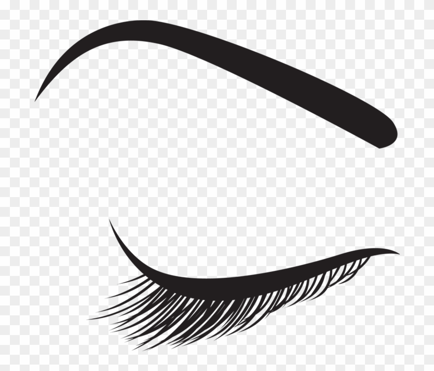 Lashes Clipart Png Graphic Black And White Stock.