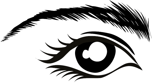 eyebrow clipart black and white - Clipground