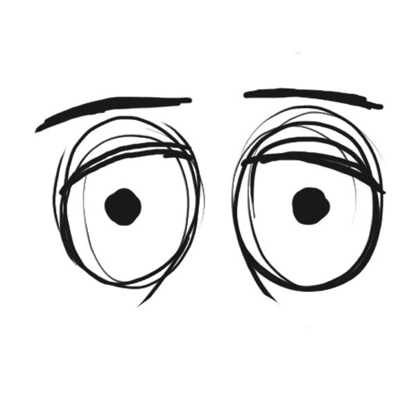 Cross Eyed Cartoon.