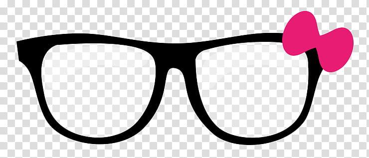 Lentes para dolls, eyeglasses with black frames transparent.