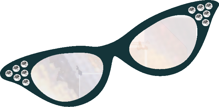 Cat eye glasses clipart.