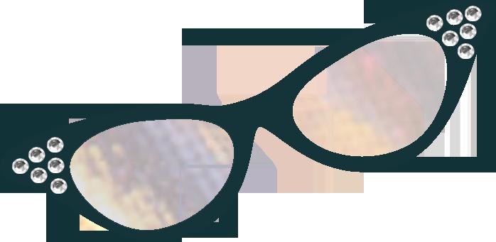Cat eye glasses clipart.