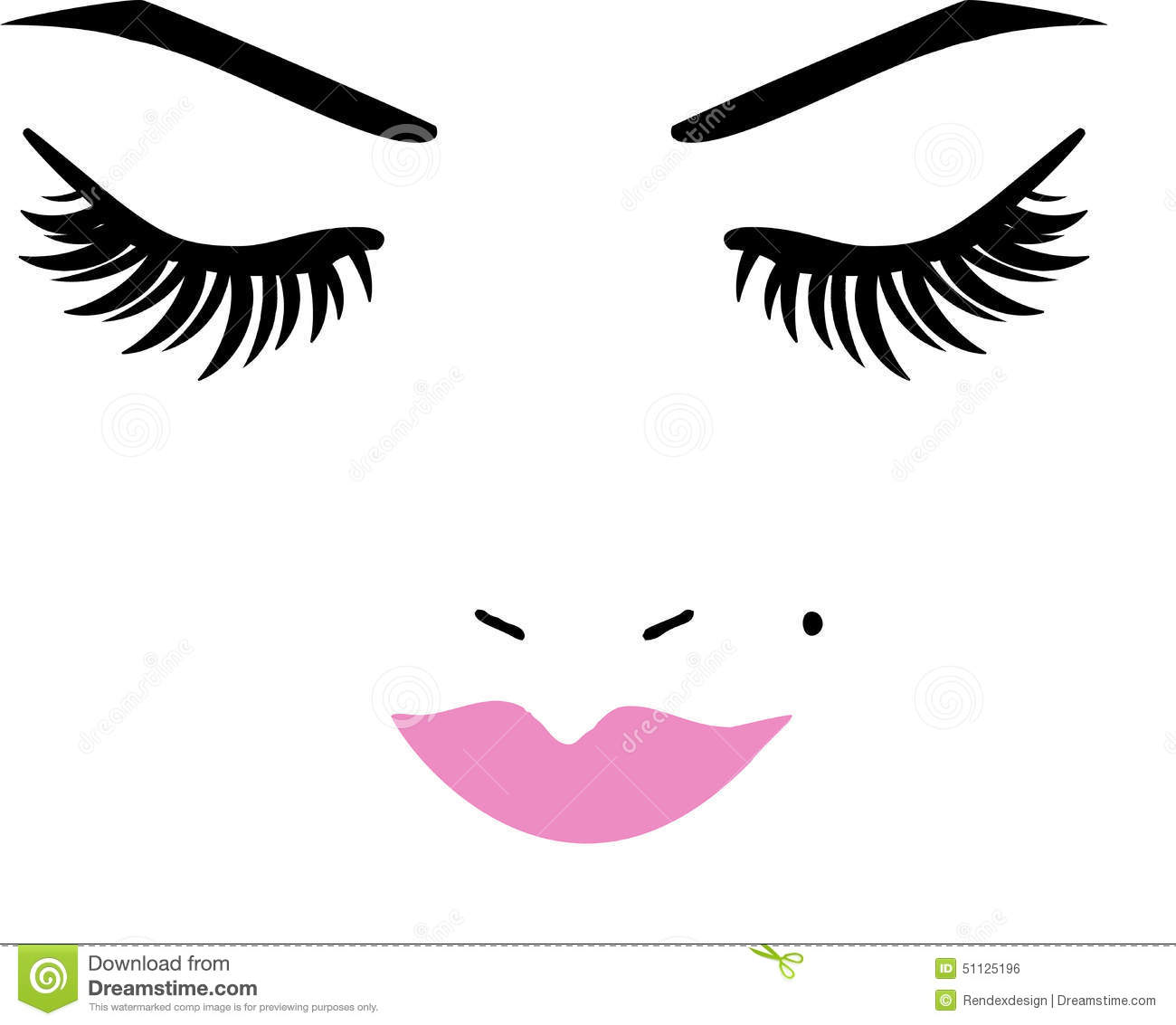 Eyelash Stock Illustrations.