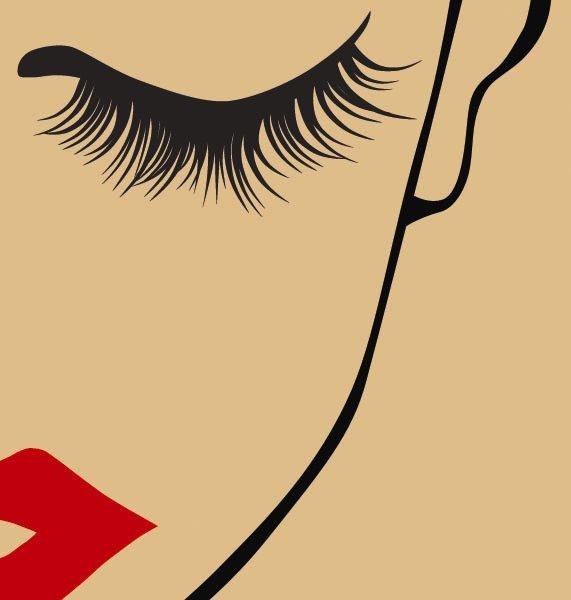 Eyelash clip art.