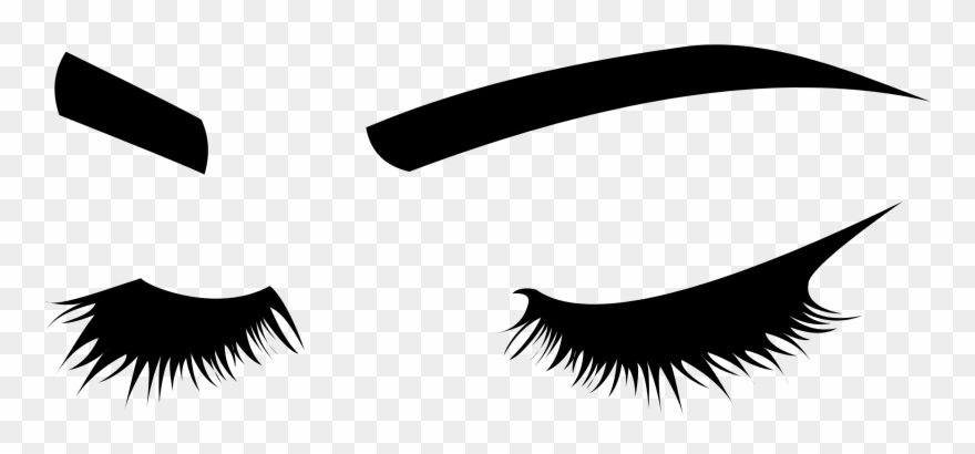 Eyelashes Silhouette Png Clipart (#3510916).