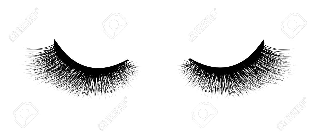 Eyelash extension, Mascara for volume and length. Vector illustration...