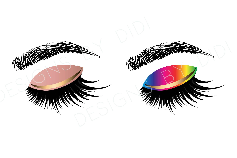 Instant Download, Lash Clipart, 2 X lashes clip art, instant.