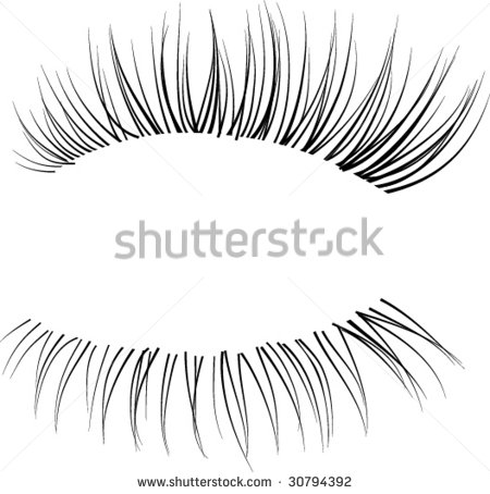 Long Eyelashes Stock Vectors, Images & Vector Art.