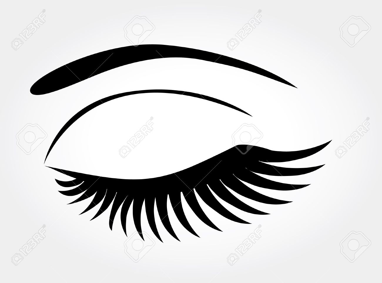 Eye lashes clipart.