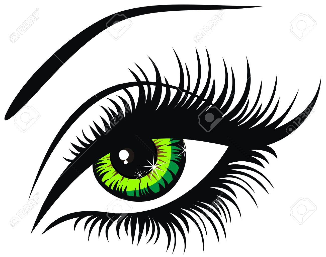 5,551 Eye Lashes Cliparts, Stock Vector And Royalty Free Eye.