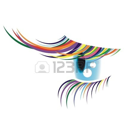 One Eye With The Coloured Eyelashes Royalty Free Cliparts, Vectors.