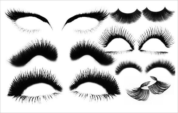175+ Eye and Eyelash Photoshop Brushes.