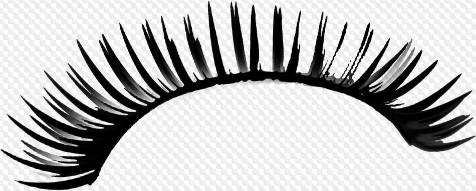 PSD, 34 PNG, Eyelashes on transparent background.