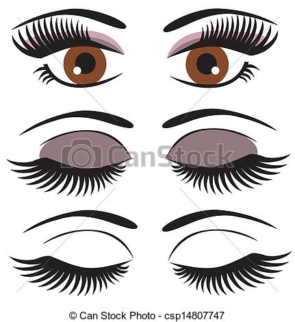 EPS Vector of brown eyes.