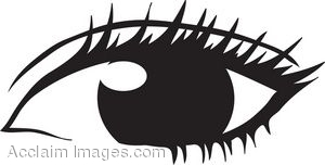 Woman's Eye Clip Art.