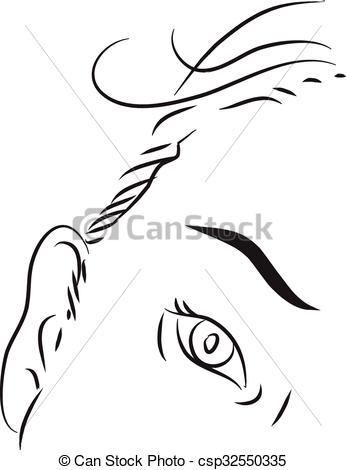 Vectors of Eyelids black and white simple line illustration.
