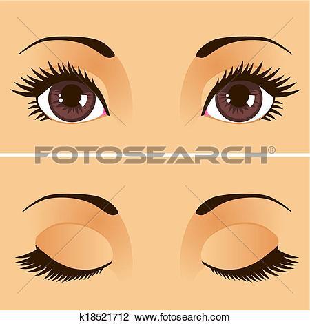Eyelids Clip Art EPS Images. 943 eyelids clipart vector.
