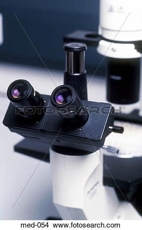 Stock Photo of Eyepiece of Microscope UK med.