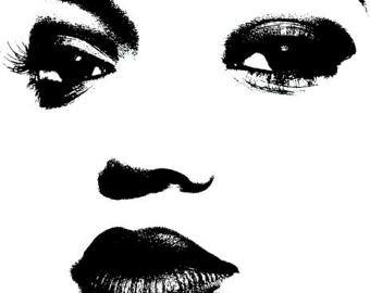 Items similar to woman smiling eyes lips png clip art Digital.
