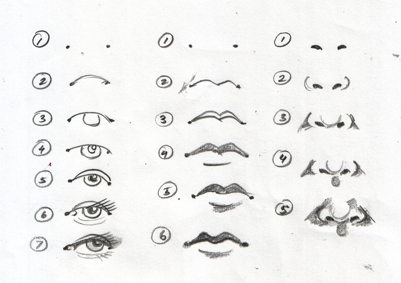 How To Draw Eyes Printable.