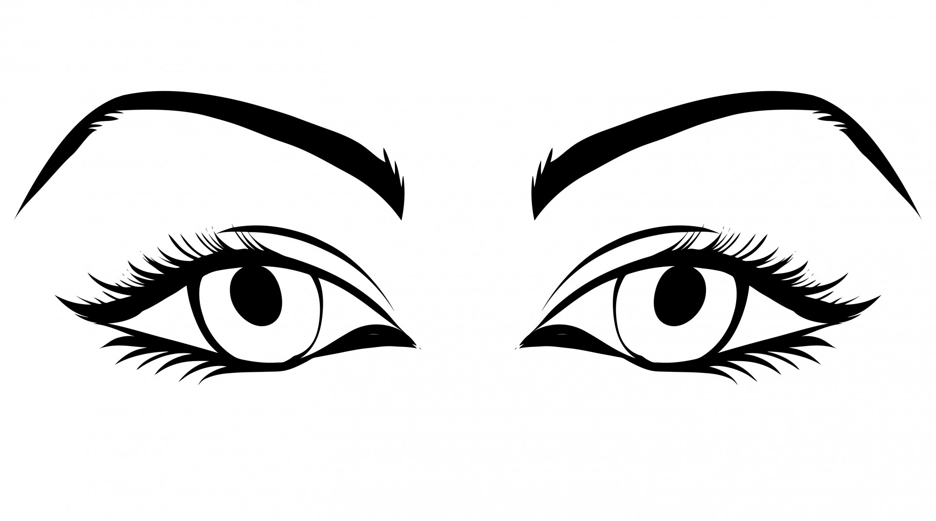 Animal eyes and eyelashes clipart.