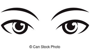 Set of eyes clipart.