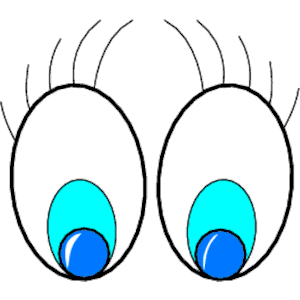 Looking Eyes Clip Art Free.