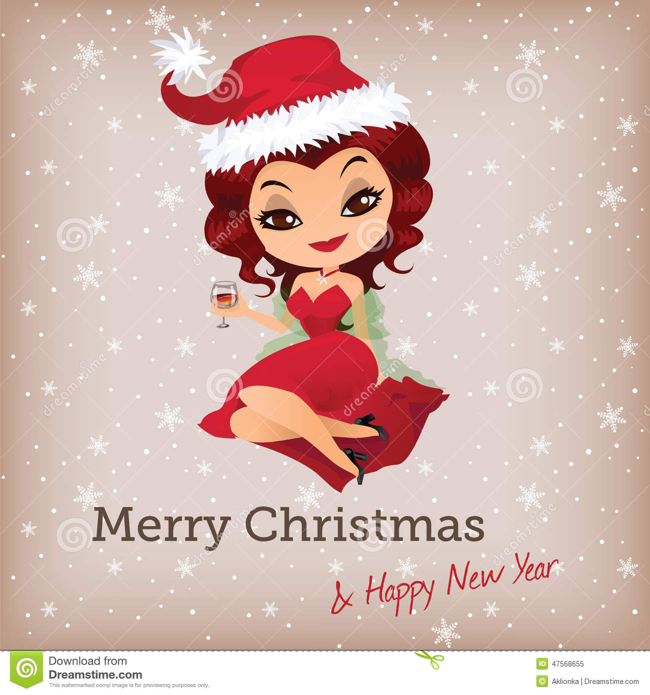 Cute Santa Doll Eye Glasses Stock Illustrations.