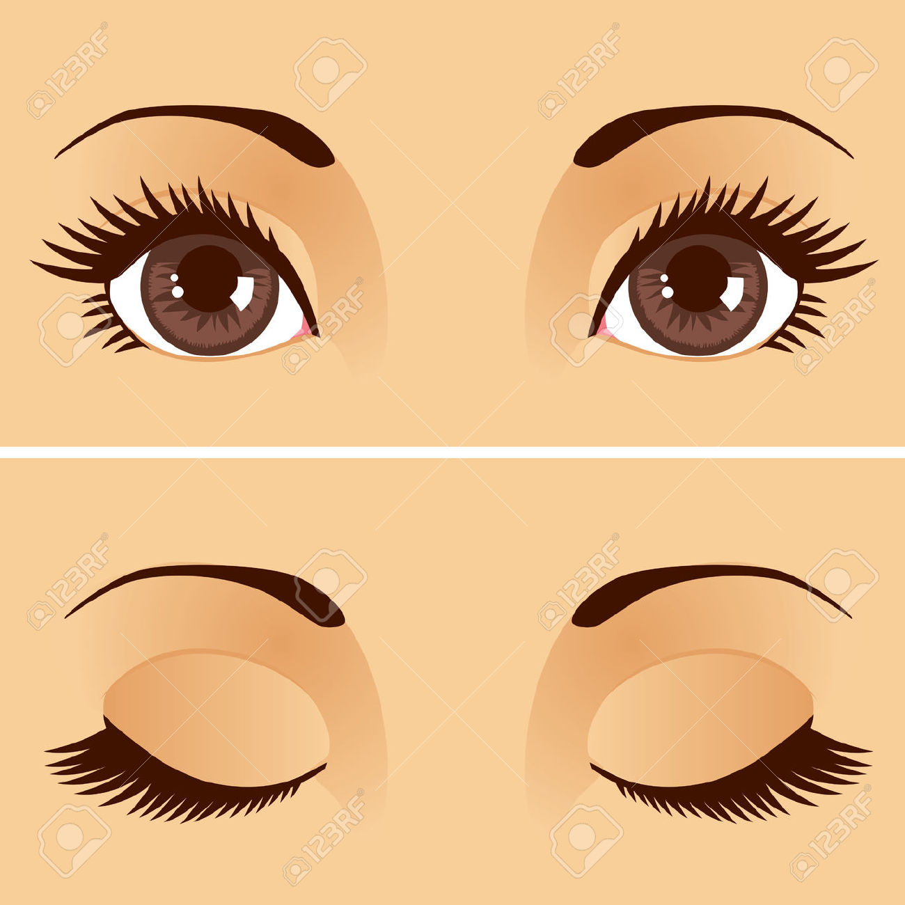 Close eyes clipart.