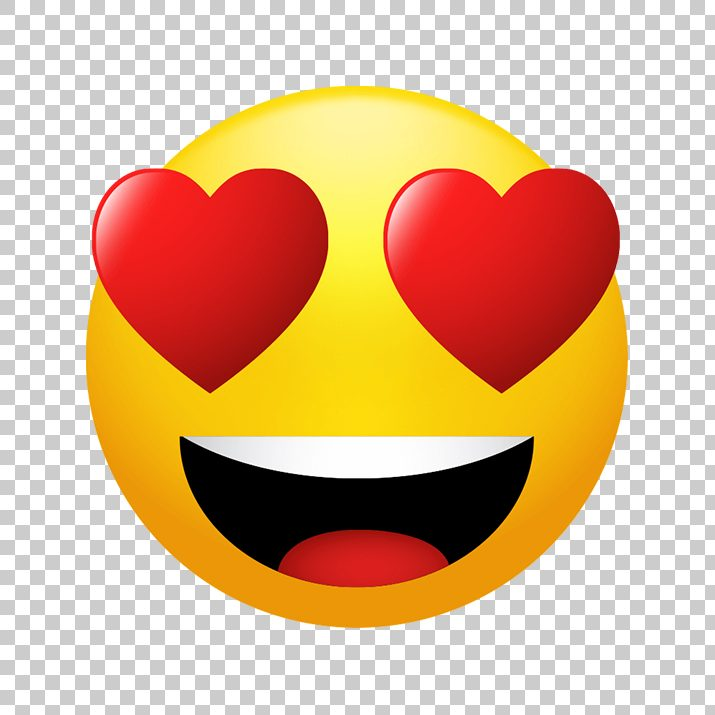 Smiling Face with Heart Eyes Emoji PNG Image Free Download searchpng.com.