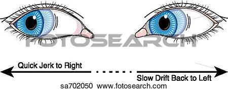 Stock Illustrations of Pair of eyes looking to right with.