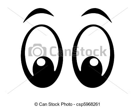 Stock Illustrations of Cartoon eyes looking left, flip and they.