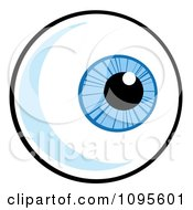 Clipart of a Blue Pair of Female Eyes and Brows.
