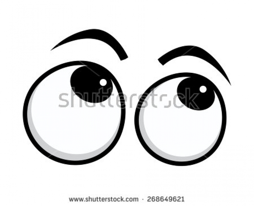 Eyes Looking Up Clipart.