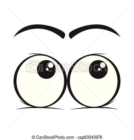 Look up eyes cartoon.
