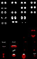 Cartoon Mouth N Eyes Clipart.