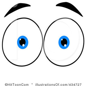 Open eyes clipart.