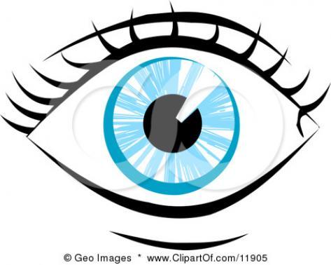 Human Eye Clip Art.